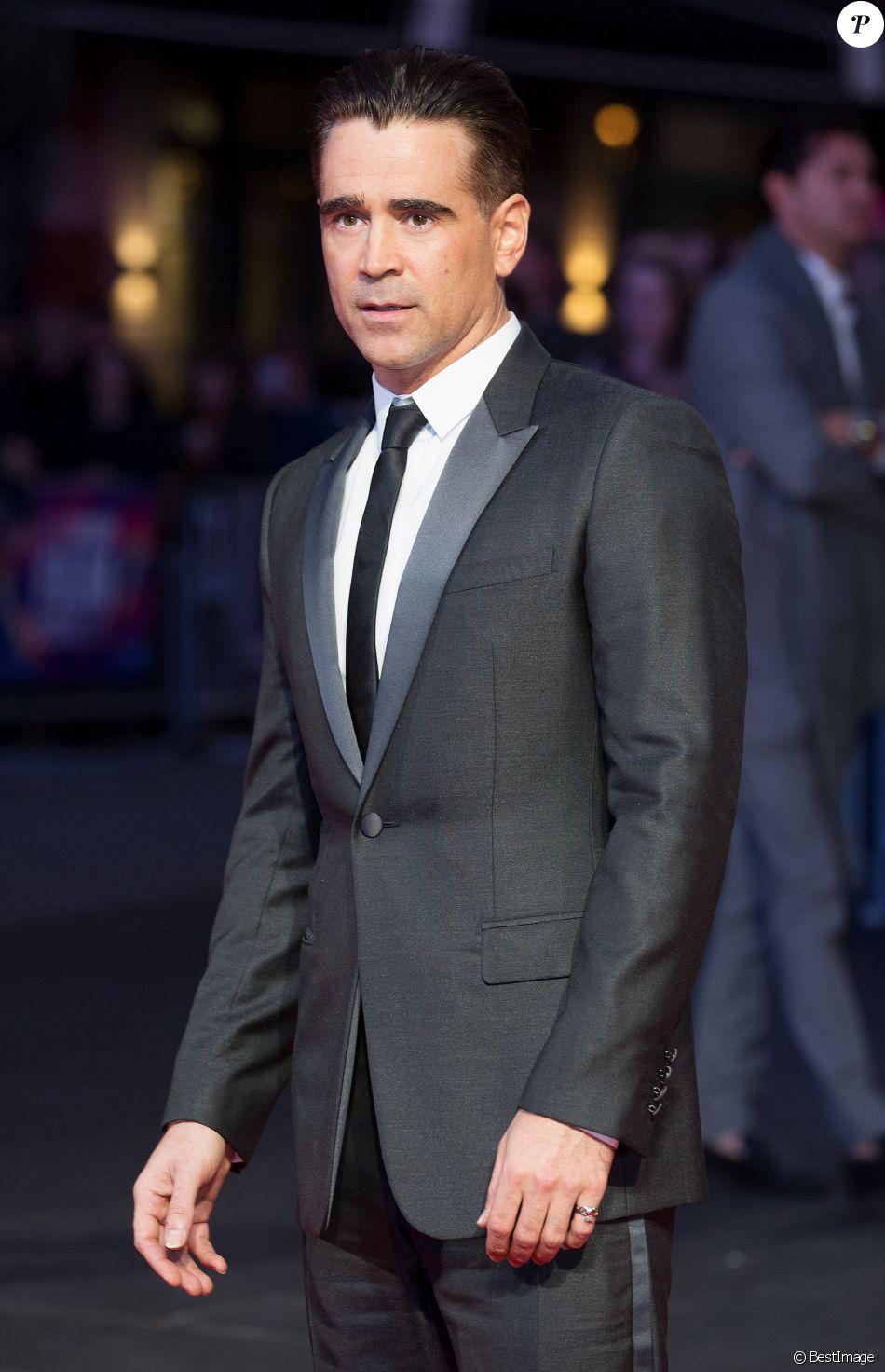 """Colin Farrell lors de la première du film """"Mise à mort du cerf sacré"""" (The Killing of a Sacred Deer) au cinéma Odeon à Londres le 12 octobre 2017."""