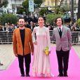 Alexander Vlahos, Elisa Lasowski et George Blagden - Soirée d'ouverture de la 1e édition du festival CanneSéries le 4 avril 2018, à Cannes. © Bruno Bebert/Bestimage