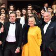 Renaud Muselier, au centre, le président du Conseil Régional PACA, et Francoise Bruneteaux, vice-présidente - Soirée d'ouverture de la 1e édition du festival CanneSéries le 4 avril 2018, à Cannes.  © Bruno Bebert/Bestimage