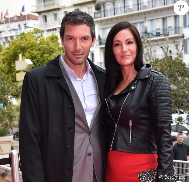 Franck Sémonin et sa femme Hélène - Soirée d'ouverture de la 1e édition du festival CanneSéries le 4 avril 2018, à Cannes.  © Bruno Bebert/Bestimage
