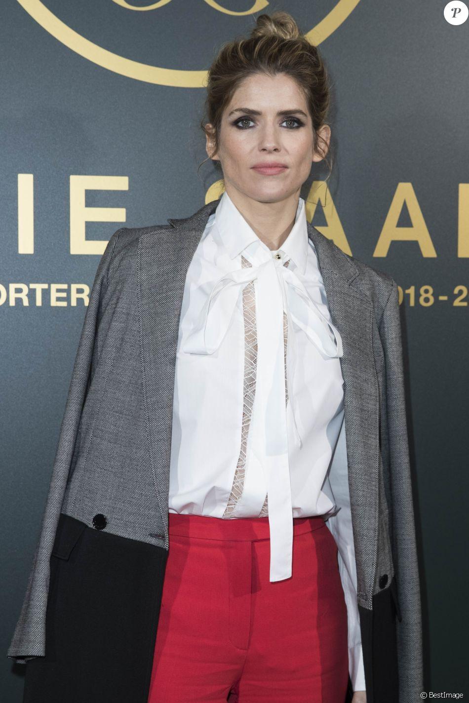 """Alice Taglioni - People au défilé de mode """"Elie Saab"""", collection prêt-à-porter automne-hiver 2018/2019, à Paris. Le 3 mars 2018 © Olivier Borde / Bestimage"""