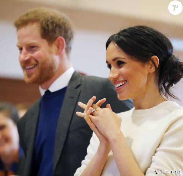Meghan Markle et le prince Harry à Belfast le 23 mars 2018.