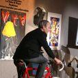 Laurent Baffie à la vente aux enchères, chez Sotheby's. 30/03/09