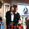 Michel Drucker et Laurent Baffie à la vente aux enchères, chez Sotheby's. 30/03/09