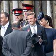 David et Victoria Beckham au mariage du prince William et de Kate Middleton à l'abbaye de Westminster le 29 avril 2011