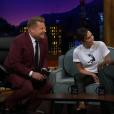 Victoria Beckham sur le plateau du Late Late Show with James Corden (CBS) le 12 avril 2018 à Los Angeles.