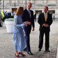 Le prince William, duc de Cambridge, lors de l'ouverture de la réunion des chefs de gouvernement du Commonwealth au centre de conférences Reine Elizabeth II à Londres le 16 avril 2018.