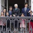 La reine Margrethe II de Danemark a pu compter sur la présence de sa famille à ses côtés au balcon du palais Amalienborg à Copenhague le 16 avril 2018 pour la célébration avec le public de son 78e anniversaire, le premier depuis la mort de son mari le prince Henrik au mois de février. La princesse Mary et ses quatre enfants, le prince Christian, la princesse Isabella, le prince Vincent et la princesse Josephine, ainsi que le prince Joachim et la princesse Marie avec les princes Nikolai, Felix, Henrik et la princesse Athena l'entouraient.