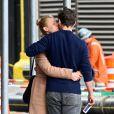 Exclusif - Claire Danes et son mari Hugh Dancy à New York, le 25 avril 2017.