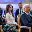 La princesse Sofia de Suède participait le 9 avril 2018 au Global Child Forum organisé au palais royal à Stockholm.