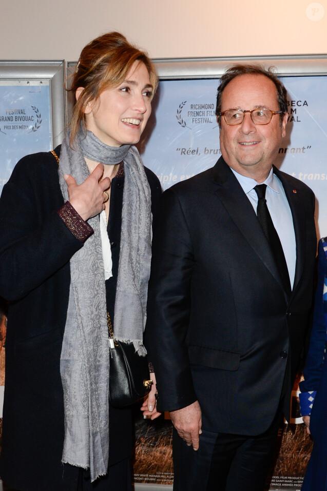 """Julie Gayet et François Hollande - Première du film """"The Ride"""" au MK2 Bibliothèque à Paris. Le 26 janvier 2018 © Coadic Guirec / Bestimage"""