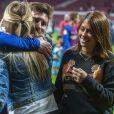 Lionel Messi avec sa femme Antonella Roccuzzo et Sofia Balbi - Les joueurs du FC Barcelona et leurs familles célèbrent la victoire de la finale de la Coupe du Roi au Wanda Metropolitano de Madrid, Espagne, le 21 avril 2018.