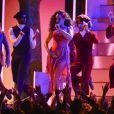 Rihanna aux 60e Grammy Awards au Madison Square Garden à New York. Le 28 janvier 2018.
