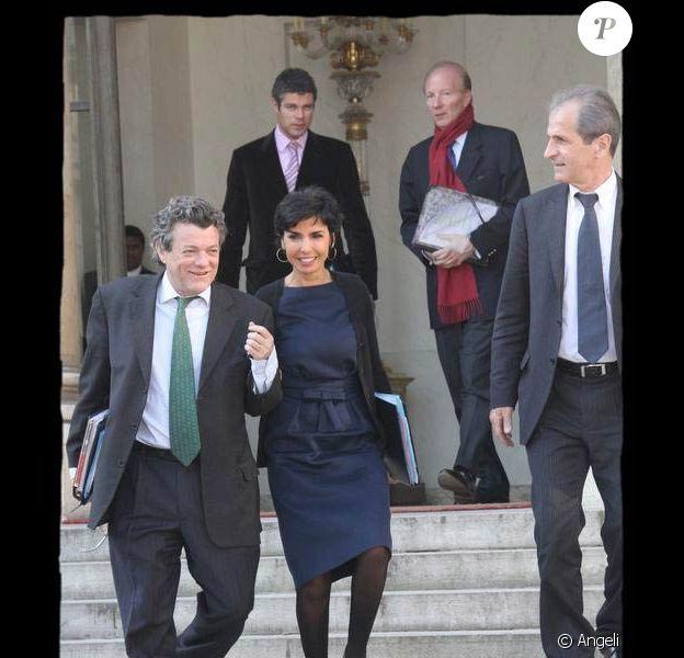 Rachida Dati à la sortie du Conseil des ministres. 1/04/09