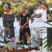 Laeticia Hallyday, sur la tombe de Johnny, se recueille avec Jean-Claude Camus