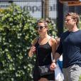 Exclusif - Lea Michele et son nouveau compagnon Zandy Reich se promènent à New York, le 19 juillet 2017.