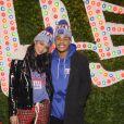 Chanel Iman et Sterling Shepard au lancement de la nouvelle collection 'New Era' dans le magasin Macy's Herald Square à New York, le 12 décembre 2017, quelques jours après leurs fiançailles.
