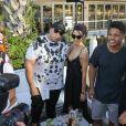 Sterling Shepard et Chanel Iman au River Yacht Club à Miami le 12 février 2017.