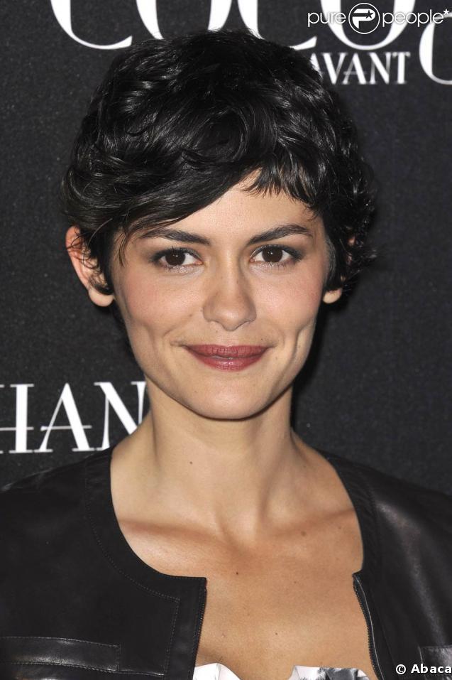 """Audrey Tautou, lors de l'avant-première de """"Coco avant Chanel"""", au Gaumont Marignan, à Paris, le 6 avril 2009 !"""