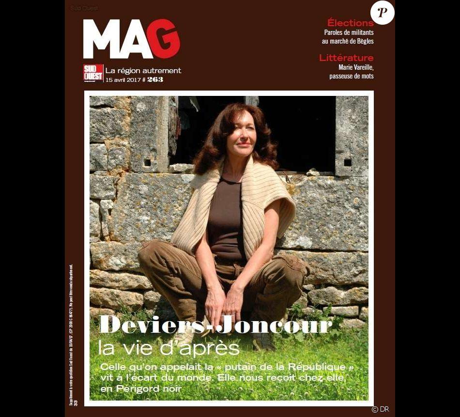 Christine Deviers-Joncour en couverture du supplément magazine du quotidien Sud-Ouest, avril 2017.