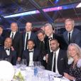 Exclusif - Julien Brun, Darren Tulett, guest, Neymar da Silva Sr. et Neymar Jr. - 5ème dîner de gala de la fondation Paris Saint-Germain au parc des Princes à Paris, le 15 mai 2018. © Rachid Bellak/Bestimage