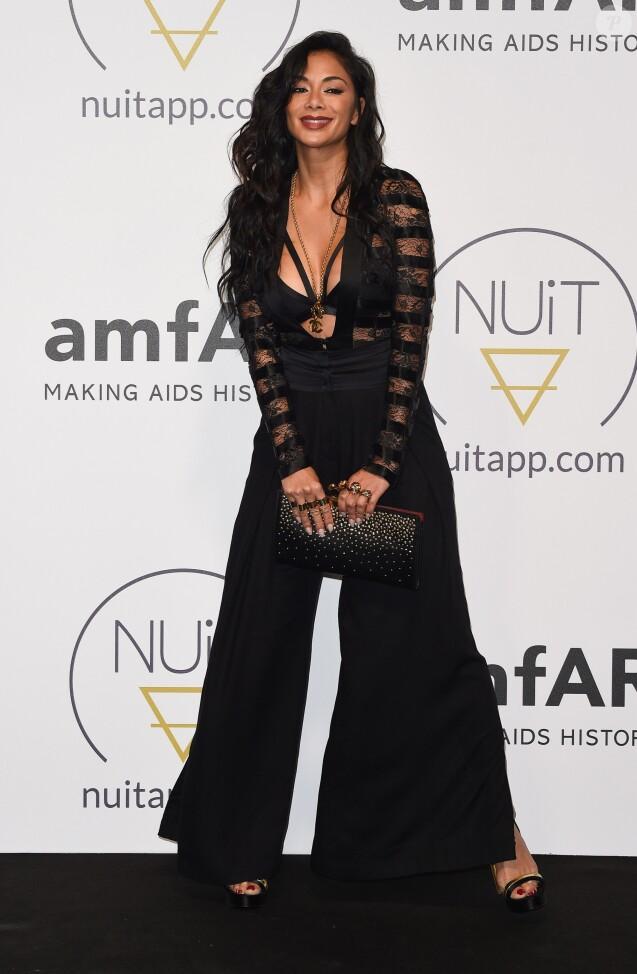 Nicole Scherzinger à la soirée Amfar & Nuitapp.com Yacht lors du 71ème Festival International du Film de Cannes, le 16 mai 2018.