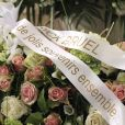 Obsèques de Maurane en l'église Notre-Dame des Grâces à Woluwe-Saint-Pierre en Belgique le 17 mai 2018.