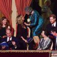 Le prince Harry et Meghan Markle au Royal Albert Hall le 21 avril 2018 pour la soirée du 92e anniversaire de la reine Elizabeth II.