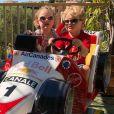 Charlene de Monaco publie une photo de ses jumeaux Gabriella et Jacques sur Instagram le 23 mai 2018, à quelques jours du Grand Prix de Monaco.