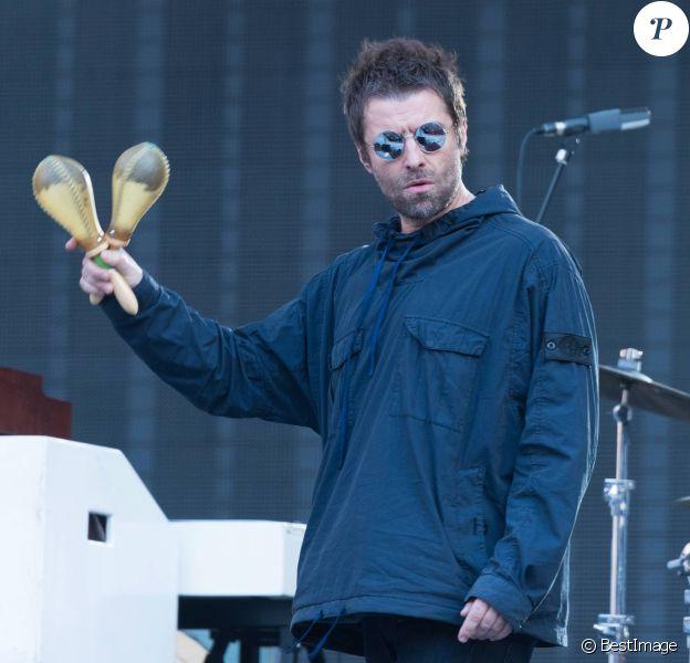 Liam Gallagher, première partie du concert des Rolling Stones, en répétitions de son concert à Londres. Le 22 mai 2018.