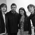 Liam Gallagher et trois de ses quatre enfants : Lennon, Gene et Molly. Ce 22 mai 2018 à Londres.