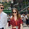 La princesse Alexandra de Hanovre et son compagnon Ben-Sylvester Strautmann se promènent dans les paddocks du circuit du Grand Prix de Monaco le 24 mai 2018. © Bruno Bebert / Bestimage