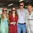 Vivian Sibold, épouse de Nico Rosberg, la princesse Alexandra de Hanovre, son compagnon Ben-Sylvester Strautmann, Nico Rosberg dans les paddocks du circuit du Grand Prix de Monaco le 24 mai 2018. © Bruno Bebert / Bestimage