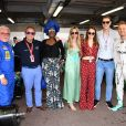 Keke Rosberg, Jacky Ickx, Khadja Nin, Vivian Sibold, la princesse Alexandra de Hanovre, son compagnon Ben-Sylvester Strautmann, Nico Rosberg dans les paddocks du circuit du Grand Prix de Monaco le 24 mai 2018. © Bruno Bebert / Bestimage