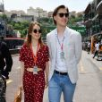 La princesse Alexandra de Hanovre et son compagnon Ben-Sylvester Strautmann dans les paddocks du circuit du Grand Prix de Monaco le 24 mai 2018. © Bruno Bebert / Bestimage