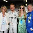 Sina Rosberg, Nico Rosberg, Vivian Sibold, Keke Rosberg après leur tour de piste sur le circuit du Grand Prix de Monaco le 24 mai 2018. © Bruno Bebert / Bestimage