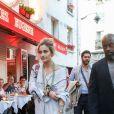 Paris Jackson arrive au restaurant La Crémaillère 1900 pour le dîner de Bienvenue du défilé croisière Christian Dior. Paris, France, le 24 mai 2018.