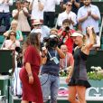 Marion Bartoli lors des internationaux de tennis de Roland Garros le 28 mai 2018. En atten­dant de redis­pu­ter des matchs, la spor­tive commente les rencontres pour Euro­sport à l'occa­sion du tour­noi de Roland-Garros. © Dominique Jacovides - Cyril Moreau / Bestimage  Marion Bartoli during the 2018 French Open - Day two at Roland Garros in Paris, France on May 28th, 2018.28/05/2018 - Paris