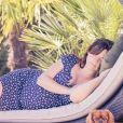 Laetitia Milot enceinte et en pleine sieste, avril 2018, Instagram
