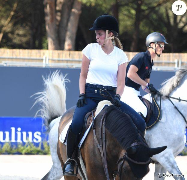 Athina Onassis - Cinquième édition du Longines Athina Onassis Horse Show sur la plage de Pampelonne à Ramatuelle, France, le 30 mai 2018.