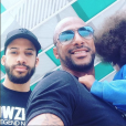 Stomy Bugsy avec ses deux fils, Bilal et Lat Dior, sur Instagram.