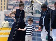 Charlotte Casiraghi, son fils et Beatrice Borromeo saluent le départ de Pierre