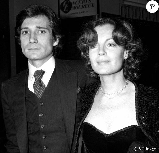 Daniel Biasini et Romy Schneider. Cérémonie des César en 1980.
