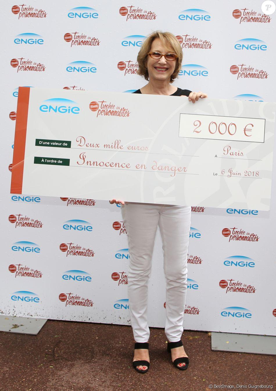 Exclusif - Nathalie Baye - 26ème édition du Trophée des personnalités en marge des Internationaux de Tennis de Roland Garros à Paris. Le 6 juin 2018. © Denis Guignebourg / Bestimage