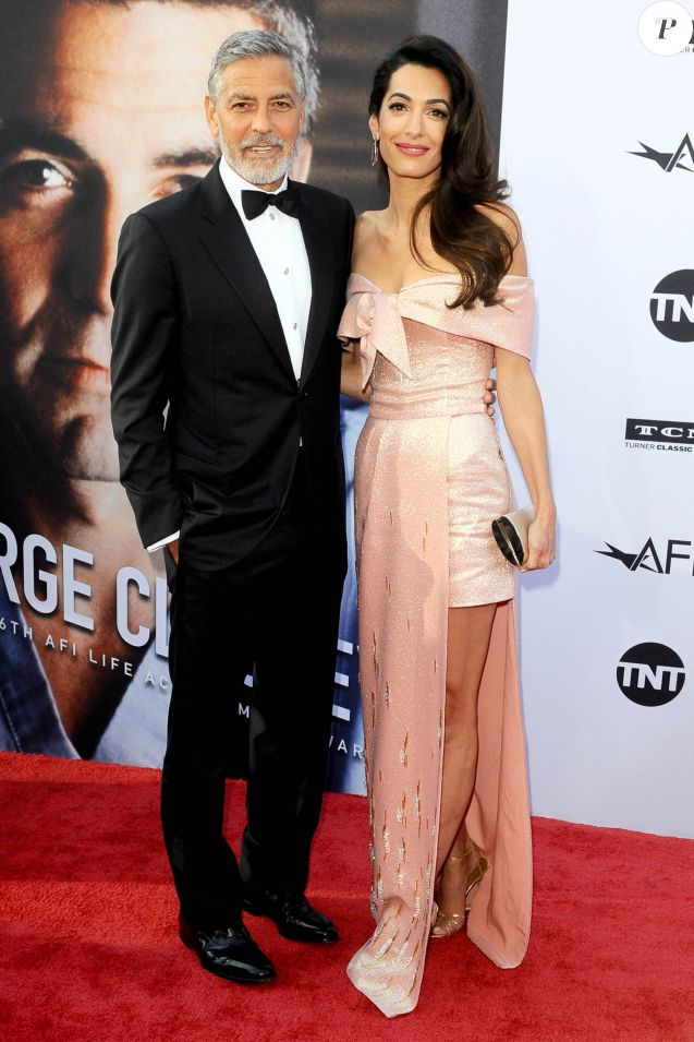George Clooney, Amal Clooney lors du 46e AFI Life Achievement Award Gala Tribute honoring George Clooney au Dolby Theatre, Los Angeles, le 7 juin 2018.