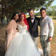 """Manon, demi-finaliste de """"The Voice"""" saison 3 (TF1), s'est mariée à son chéri Hugo. Lors de la cérémonie, qui s'est déroulée en Saône-et-Loire vendredi 25 août 2017, les jeunes époux étaient entourés de leurs proches, ainsi que de Slimane (The Voice 5), Nehuda et Ricardo."""