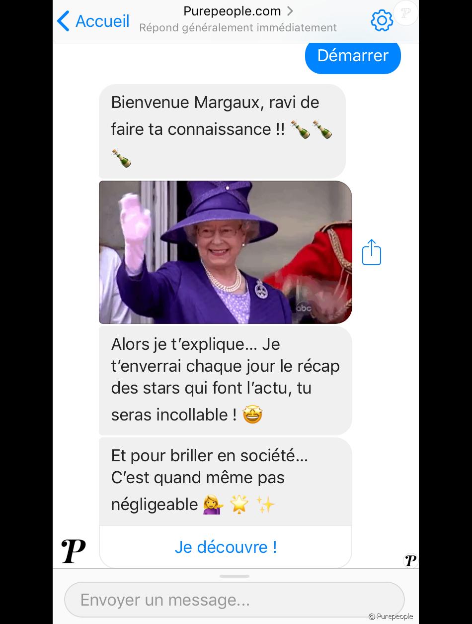 Purepeople.com débarque sur Facebook Messenger. Votre actu people en un clic et à portée de main.