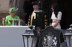 Meghan Markle complice avec Elizabeth II pour leur première sortie officielle