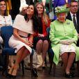 Meghan Markle, duchesse de Sussex, effectue son premier déplacement officiel avec la reine Elisabeth II d'Angleterre, lors de leur visite à Chester. Le 14 juin 2018
