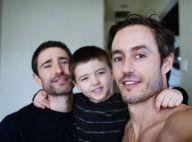 Matt Dallas (Kyle XY) : Craquant portrait de famille avec son mari et son fils